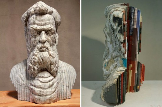 recycled book sculptures 001