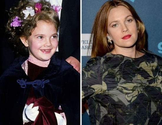 Drew Barrymore – 1982 and now