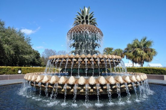 Pineapple Fountain, Waterfront Park In Charleston, South Carolina
