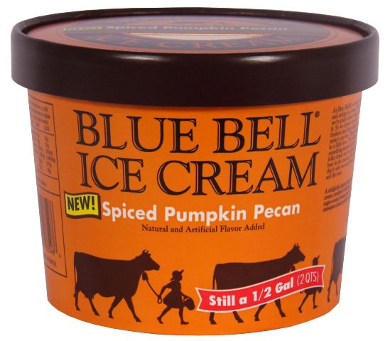 Blue Bell pumpkin ice cream