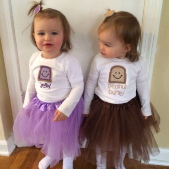 Peanut butter & jelly twins costume