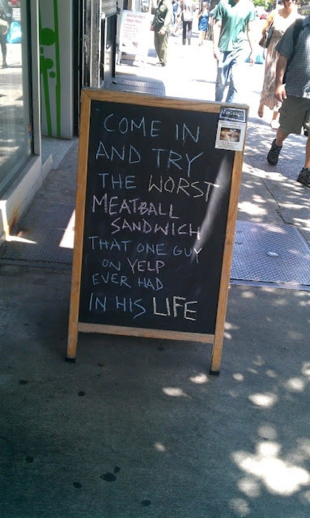 Funny Restaurant Signs  15 Photos