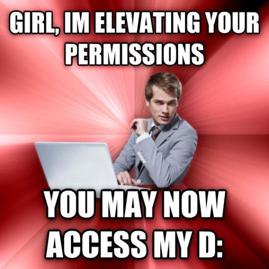 Elevating your permissions