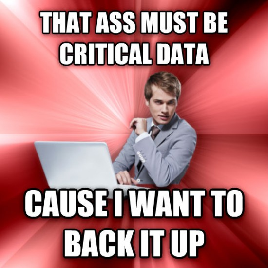 It must be critical data!