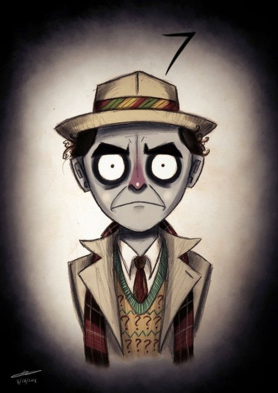 Doctor Who Characters In The Style of Tim Burton006