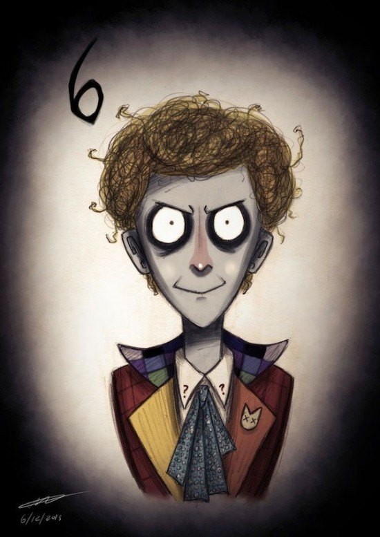 Doctor Who Characters In The Style of Tim Burton007