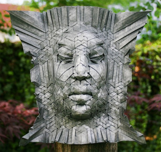 New Tessellated Origami Masks by Joel Cooper 005