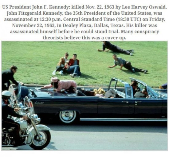 These photos were taken just moments after assassinations 007