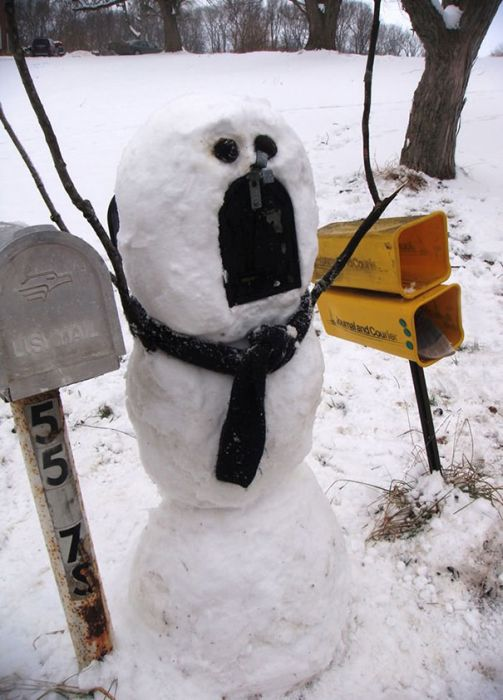 22 Funny and creative snowman ideas 002