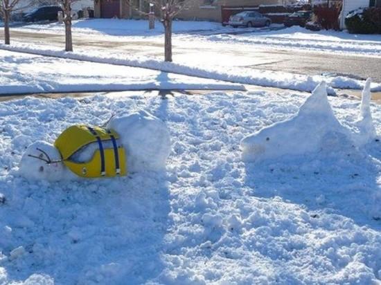 22 Funny and creative snowman ideas 005