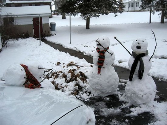 22 Funny and creative snowman ideas 006
