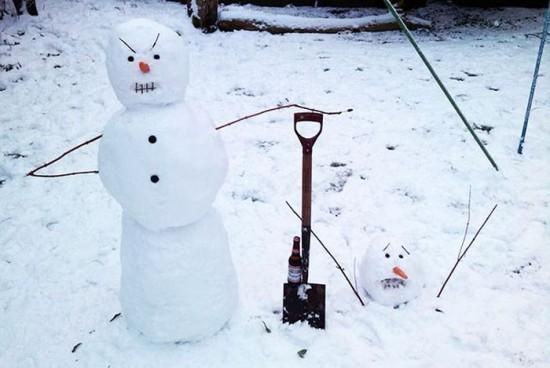 22 Funny and creative snowman ideas 009