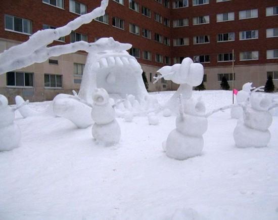 22 Funny and creative snowman ideas 010