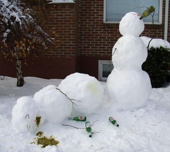 22 Funny and creative snowman ideas 015