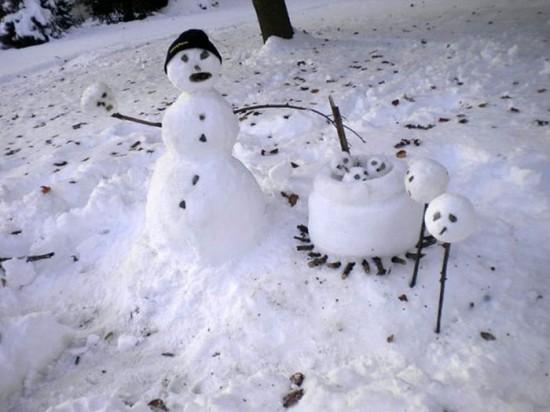 22 Funny and creative snowman ideas 016