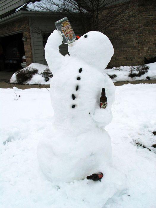 22 Funny and creative snowman ideas 017
