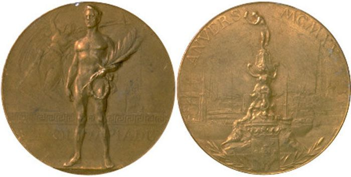 The Evolution of Olympic gold medals from the past 118 years 006