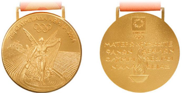 The Evolution of Olympic gold medals from the past 118 years 044