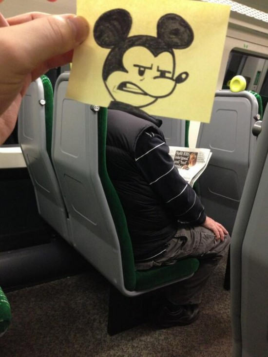 This Guy Has a Funny Solution For Avoiding Boredom On His Commute 001