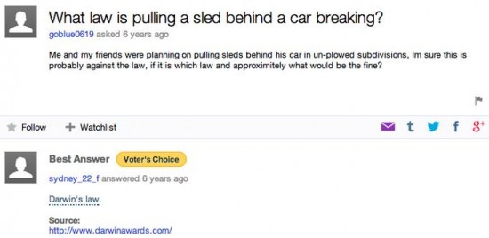20 Funny Yahoo Answers 020