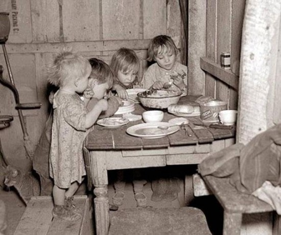 Christmas dinner during Great Depression turnips and cabbage