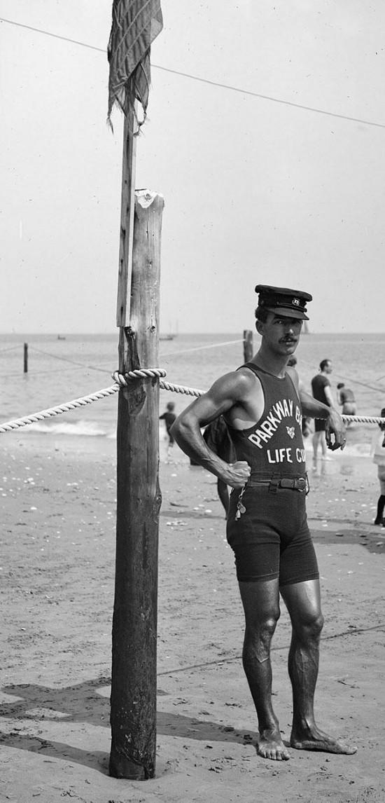 Lifeguard on the coast, 1920′s