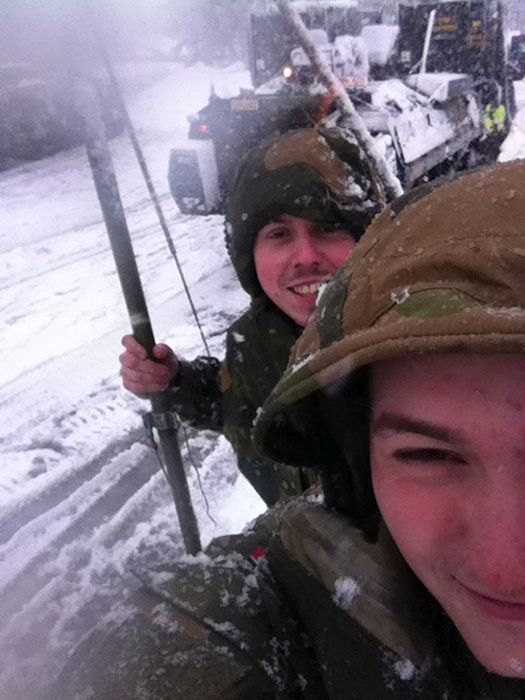 Soldiers from different armies take selfies 023