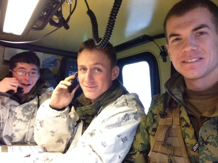 Soldiers from different armies take selfies 042