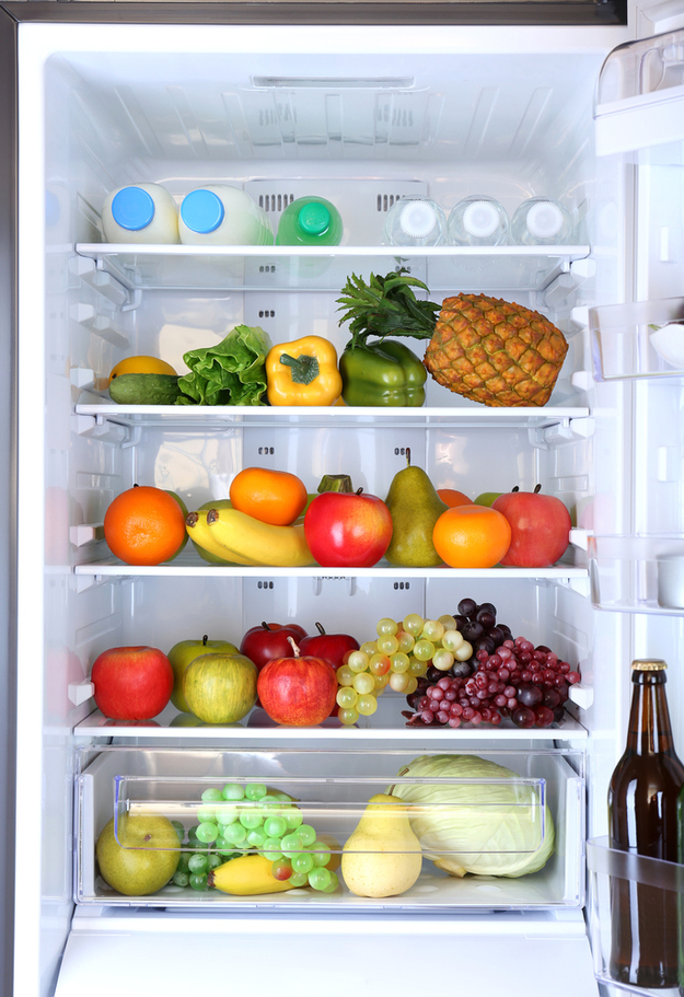 Take a picture of the contents of your fridge before you go grocery shopping