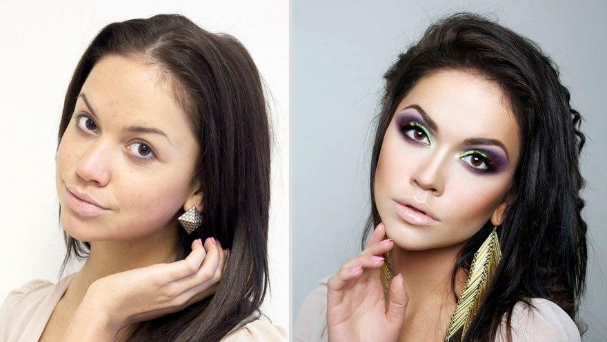 Makeup Transformation Before And After Application Saubhaya