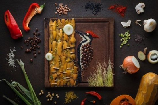 Creative Food Illustrations Of Birds 001