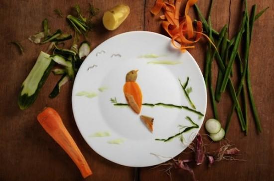 Creative Food Illustrations Of Birds 002