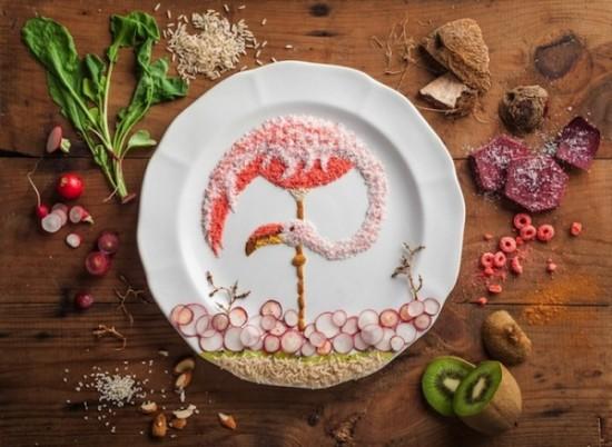 Creative Food Illustrations Of Birds 004