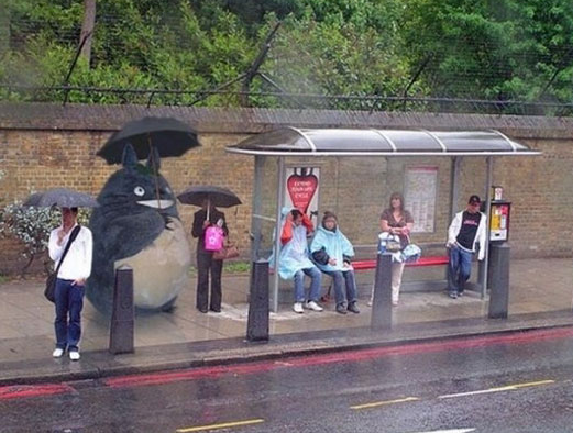 Funny People At Bus Stops 007