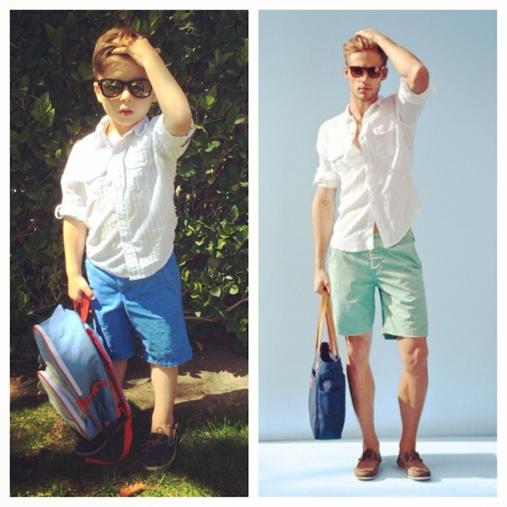Adorable 4 Year Old Boy Mimics Male Fashion Models 12