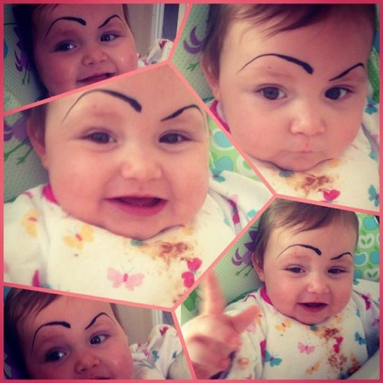 Babies With Funny Eyebrows 004