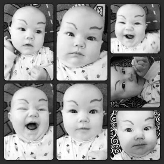 Babies With Funny Eyebrows 006