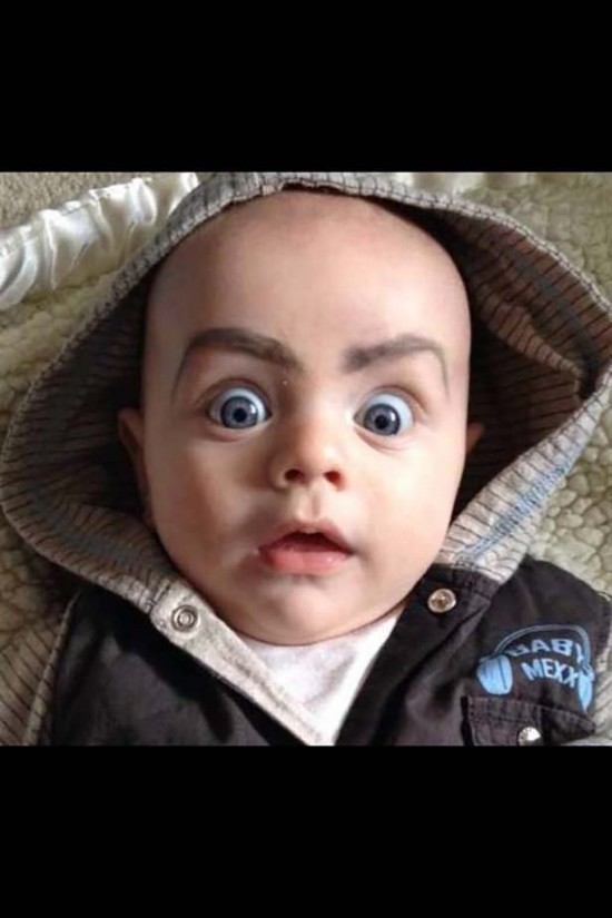 Babies With Funny Eyebrows 008
