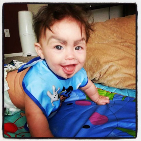 Babies With Funny Eyebrows 011