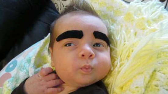 Babies With Funny Eyebrows 014