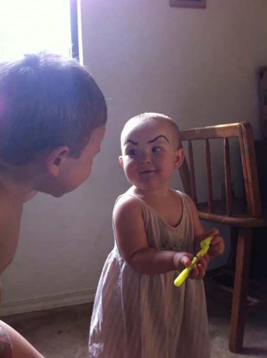 Babies With Funny Eyebrows 015