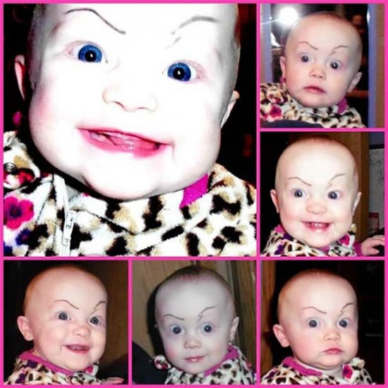Babies With Funny Eyebrows 016