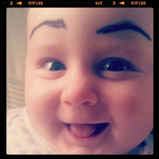 Babies With Funny Eyebrows 019