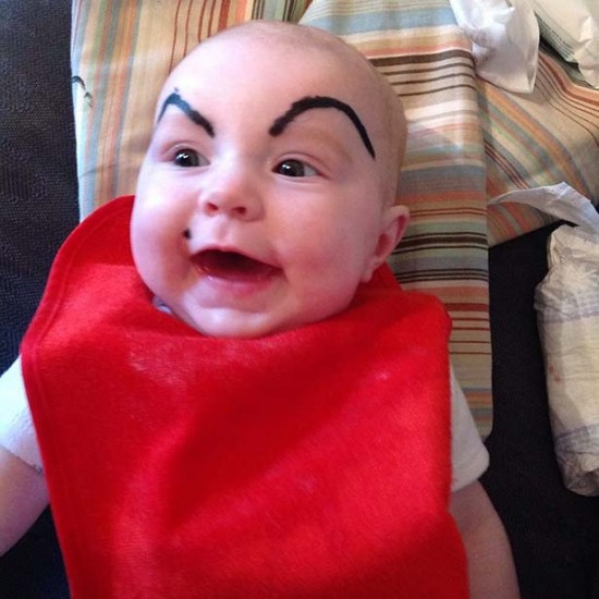 Babies With Funny Eyebrows 020