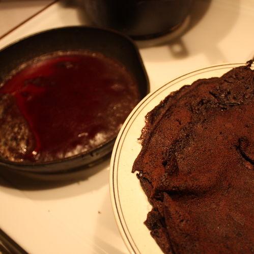 Blodplättar - Pancakes with pigs blood (Sweden)