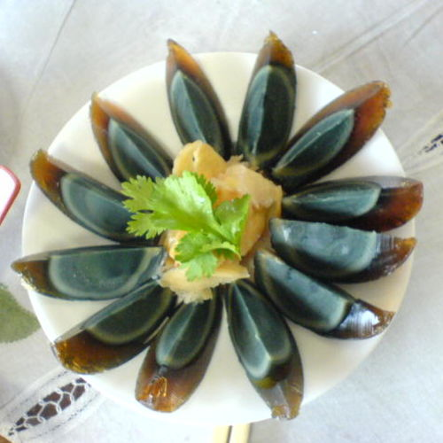 Century egg - A hundred-years preserved egg (China)