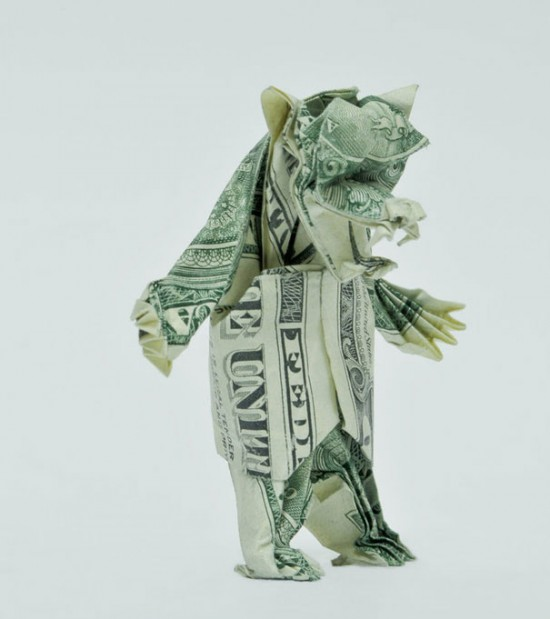 20 Cool Examples of Dollar Bill Origami 011