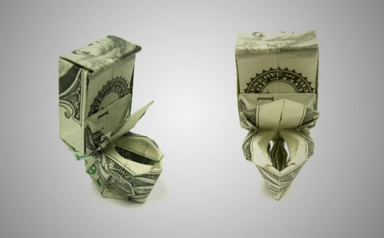 20 Cool Examples of Dollar Bill Origami 020