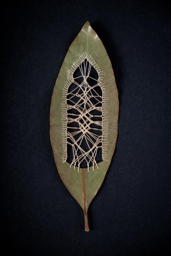 Beautifully Delicate Embroidered Leaves by Hillary Fayle 001