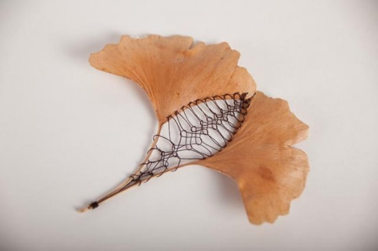Beautifully Delicate Embroidered Leaves by Hillary Fayle 005